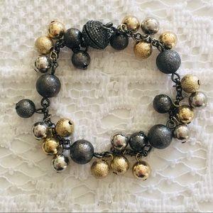 Jewelry - Grey/gold/silver bracelet, EUC